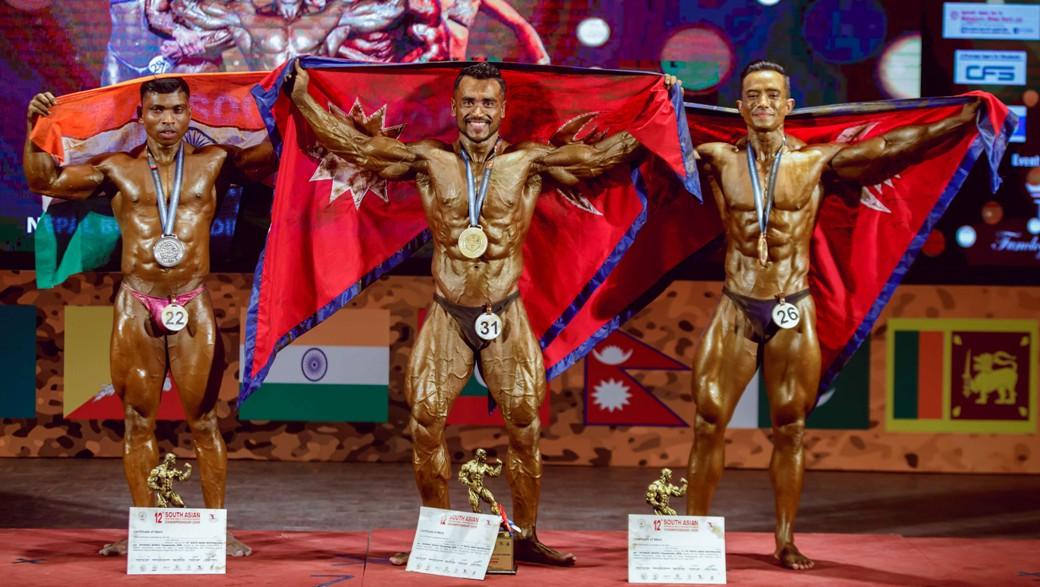 १२औं दक्षिण एसियाली शारीरिक सुगठन च्याम्पियनसिपमा नेपालका समिरलाई स्वर्ण
