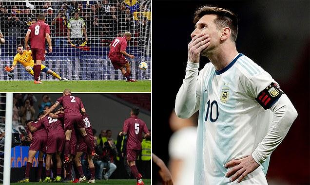 राष्ट्रिय टिममा मेसीको कमब्याक खल्लो, भेनेजुएलासँग अर्जेन्टिना ३-१ ले पराजित