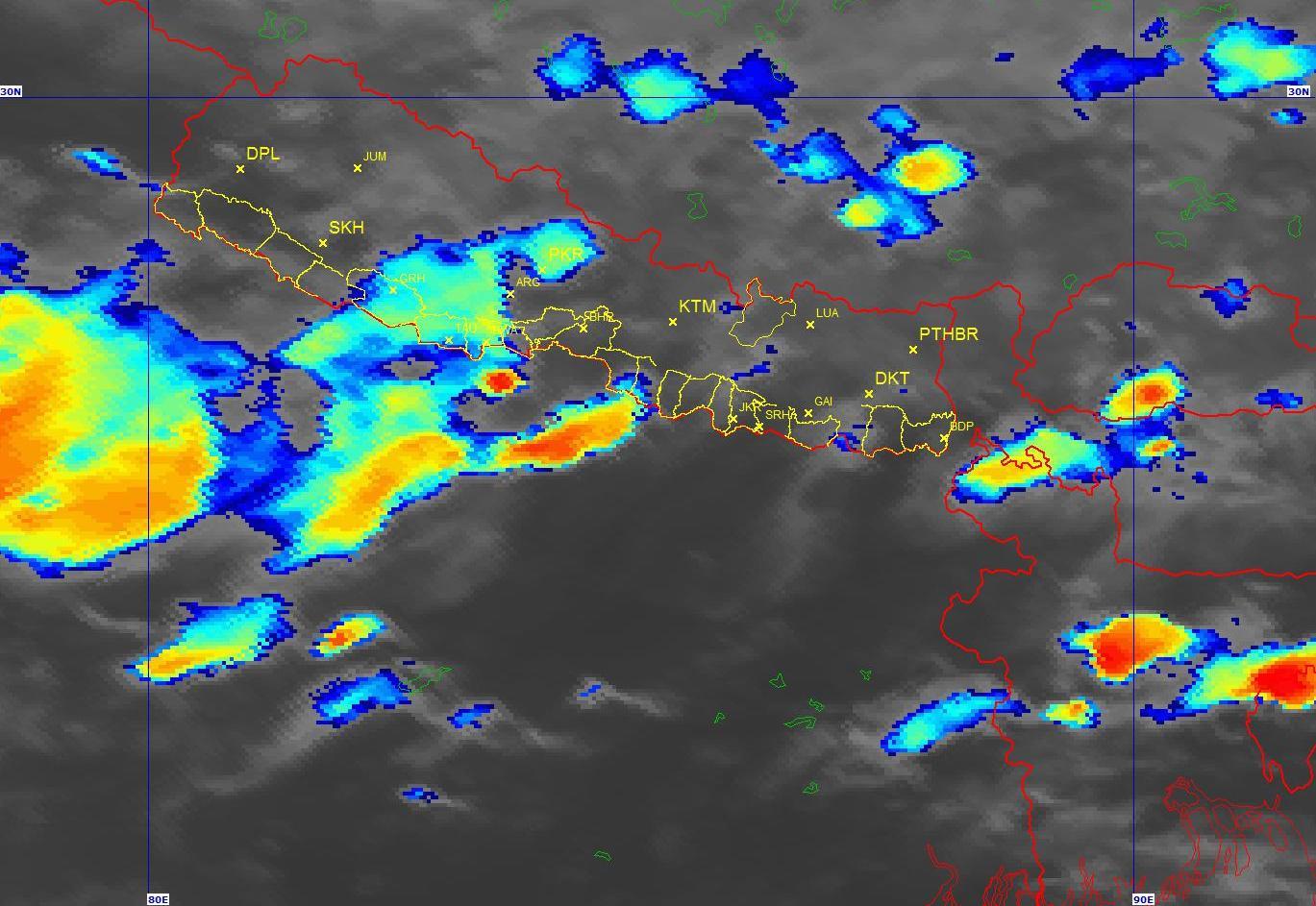 पूर्वी क्षेत्रमा भारी वर्षा, तटीय क्षेत्रमा सतर्कता अपनाउन आग्रह