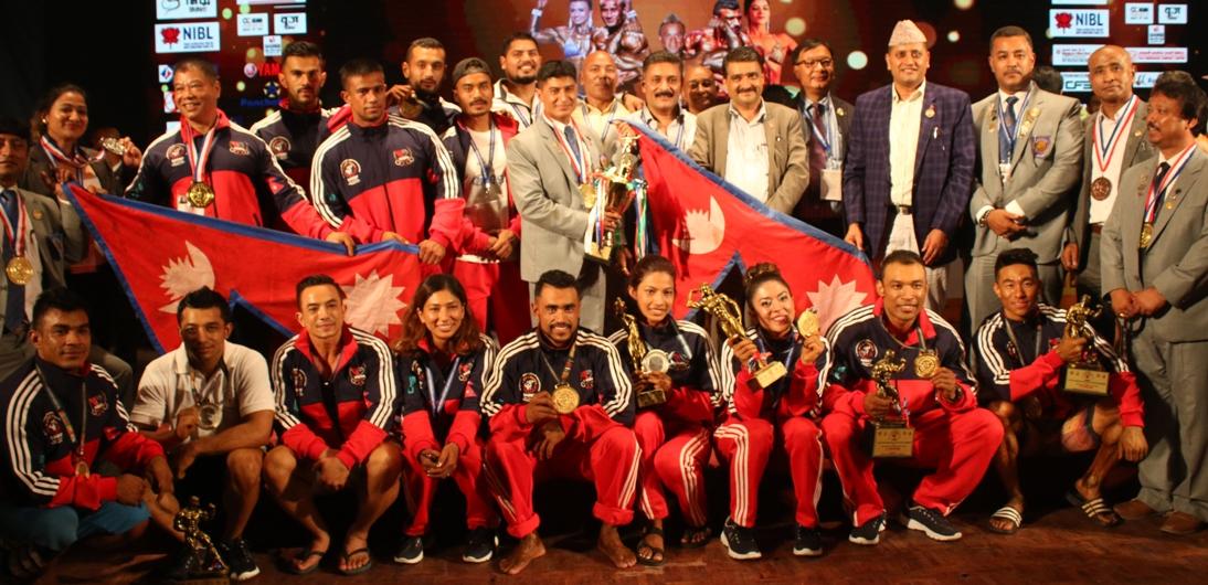 साउथ एसियन बडिबिल्डिङ च्याम्पियन : नेपाल टिम च्याम्पियनसिपमा दोस्रो, मलिक ओभरअल च्याम्पियन