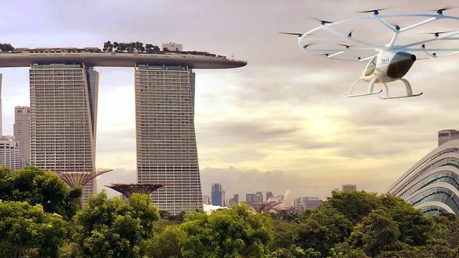 सिंगापुरको आकाशमा उड्ने ट्याक्सीको परीक्षण हुने
