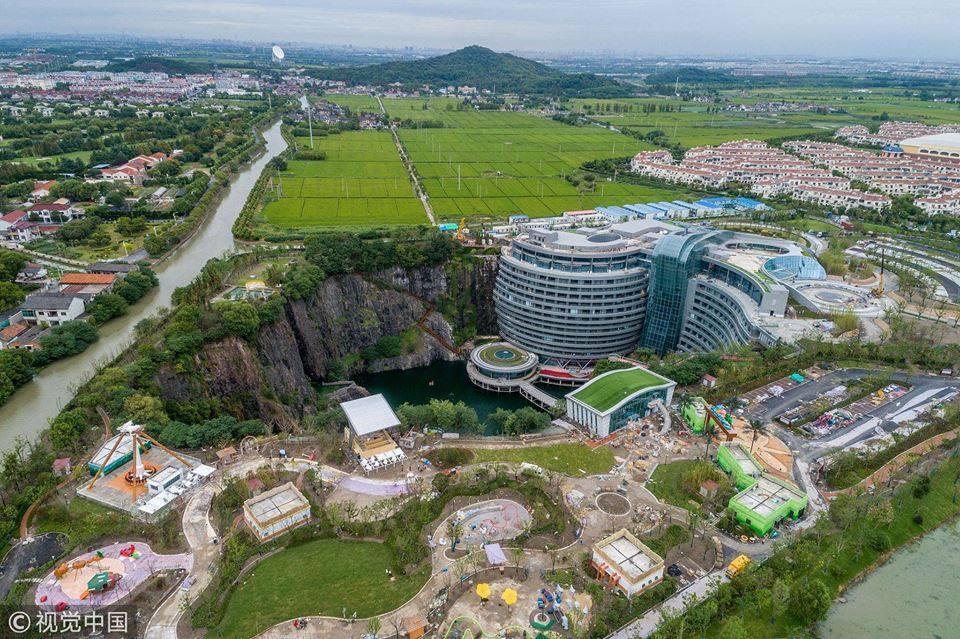 बुर्ज अल अरबका आर्किटेक्टको डिजाइनमा चीनमा बन्यो विश्वकै पहिलो अन्डर ग्राउन्ड होटल