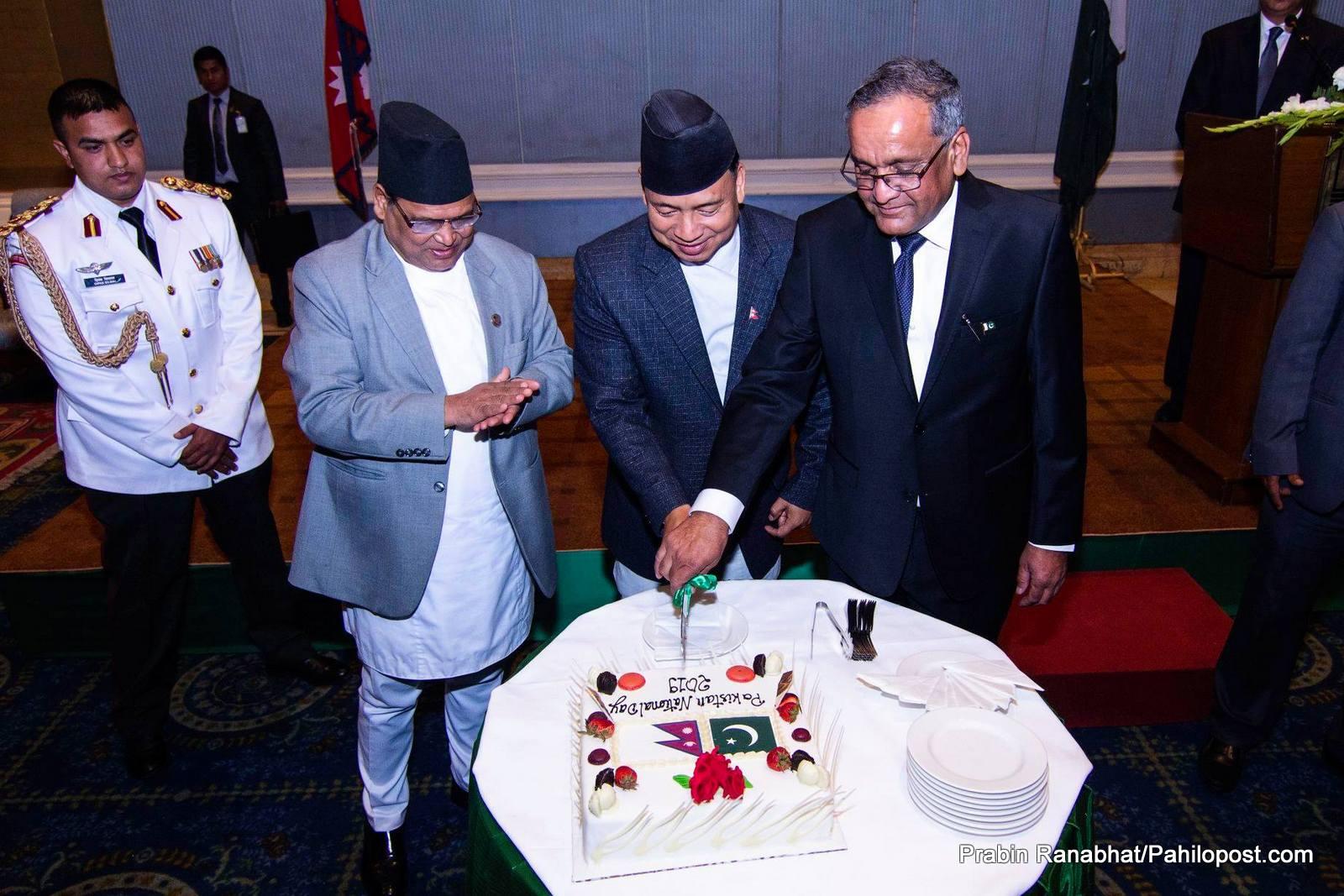 पाकिस्तानको राष्ट्रिय दिवसमा 'समृद्ध नेपाल सुखी नेपाली'को नारा