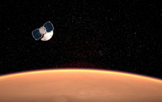 नासाको 'मार्स इन्साइट' यान मंगलग्रहमा अवतरण गर्दै