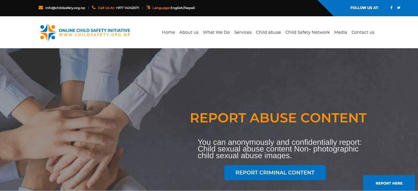 इन्टरनेटमा बाल यौन दुर्व्यवहार सामाग्री हटाउन नेपालमा चाइल्ड सेफ्टी पोर्टल शुरु