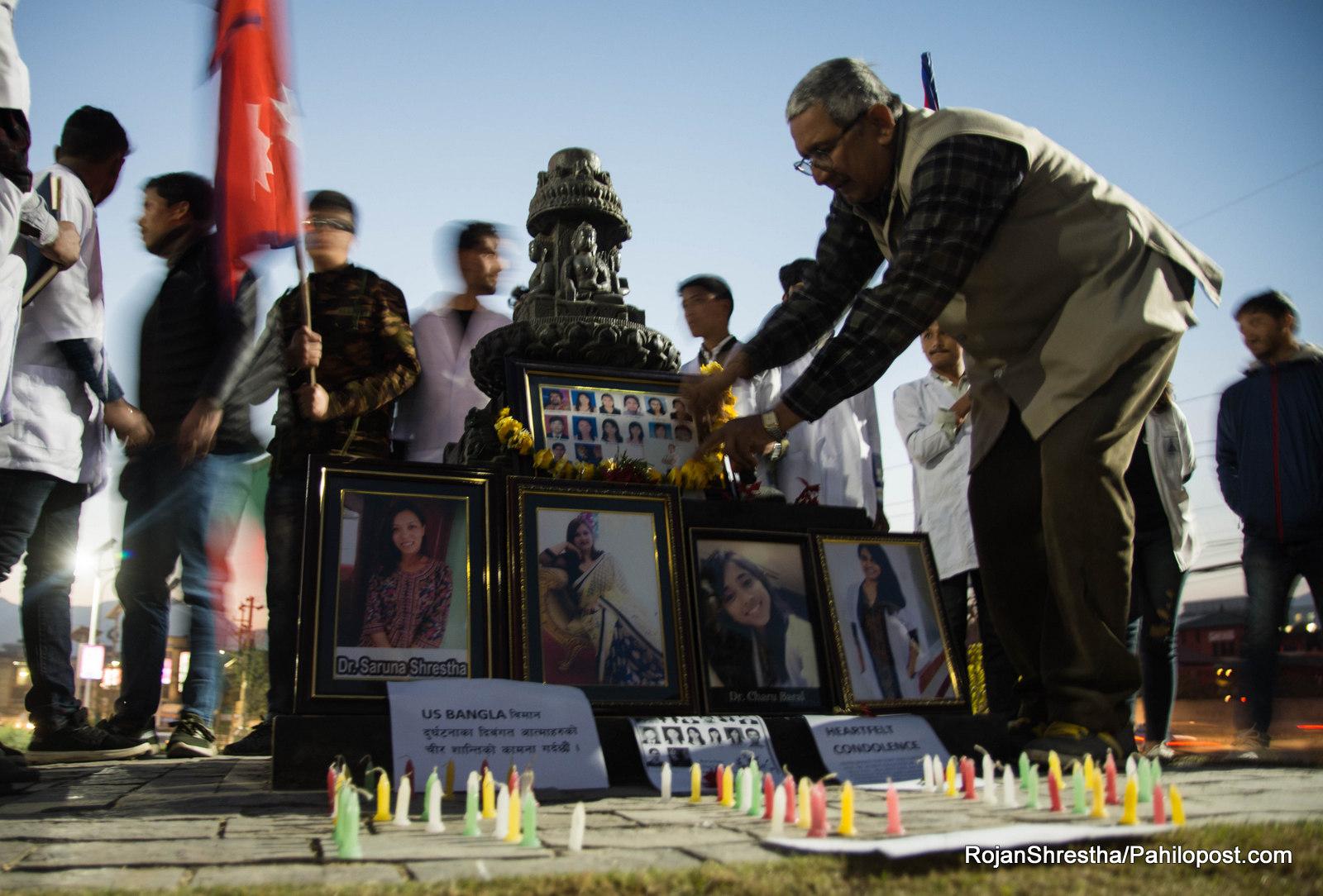 फोटोमा हेर्नुस् माइतीघरमा ५२ यात्रुको ज्यान गएको विमान दुर्घटनाको स्मरण