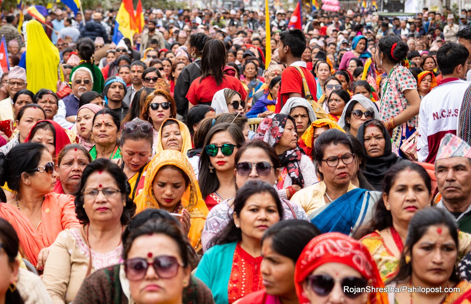 हिन्दु राष्ट्रको अभियान बोकेको राप्रपाको सभाका हेर्नुस् दर्शनीय दृश्य