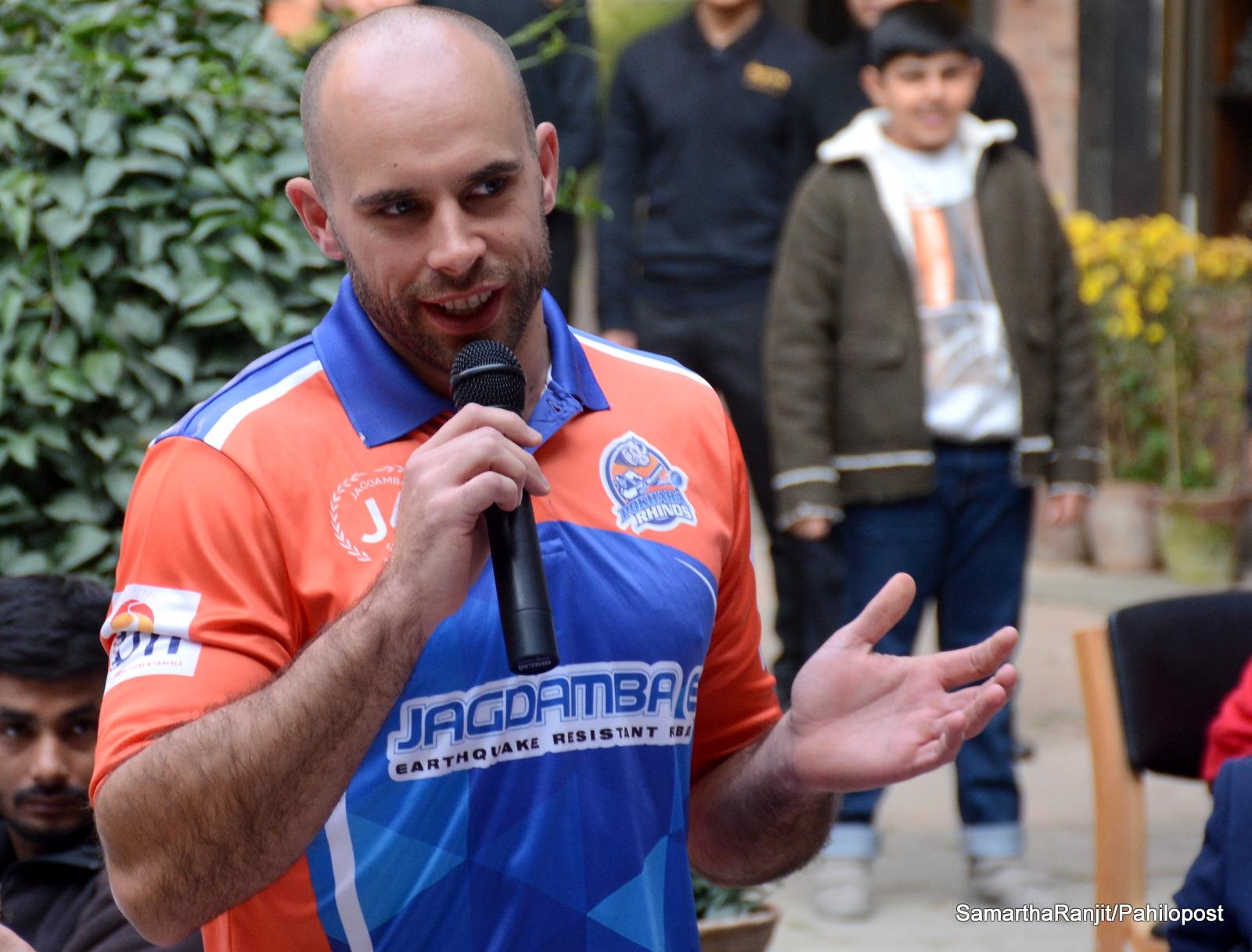इपीएलमा पोखरा राइनोजको कप्तानी विदेशी खेलाडी कोत्जरले गर्ने
