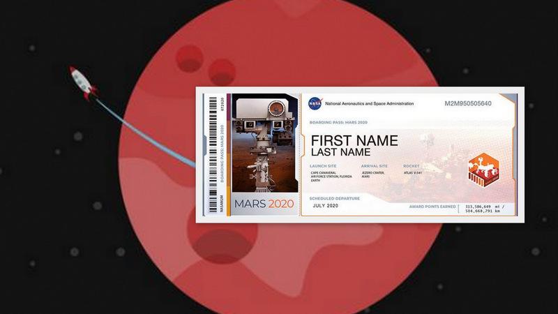 मंगल ग्रहमा आफ्नो नाम पठाउने हो? नासाले बाँड्दैछ 'बोर्डिङ पास'