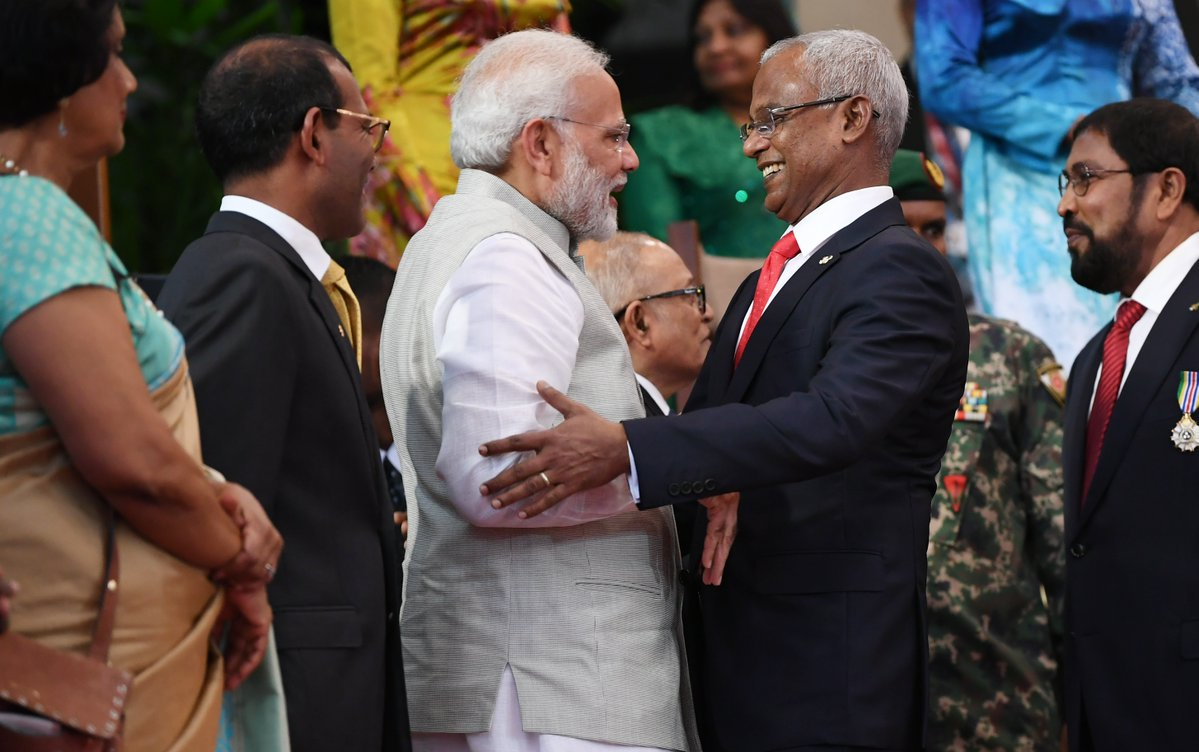 भारतीय प्रधानमन्त्री नरेन्द्र मोदीको उपस्थितिमा मालदिभ्सको राष्ट्रपतिमा सोलिहको सपथ, विश्वमा आज