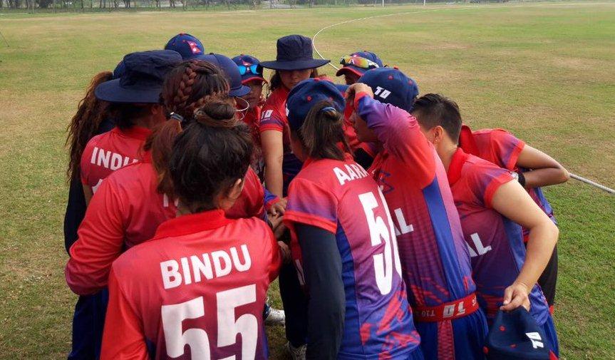 वुमन्स टी-२० स्म्यास : थाइल्याण्ड ए लाई ९ विकेटले हराउँदै नेपाल समूह विजेता