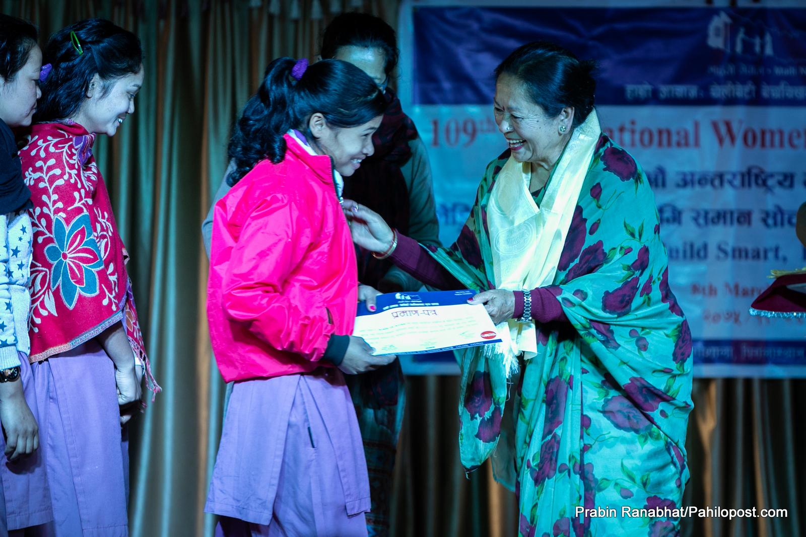 महिला दिवसको अवसरमा चार सामाजिक अभियन्तालाई माइती नेपालको सम्मान