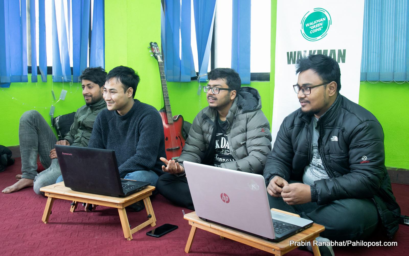 नेपाली युवाको हिँड्न हौस्याउने इनोभेटिभ एप : वाकम्यान - ग्रीन क्वाइन्स