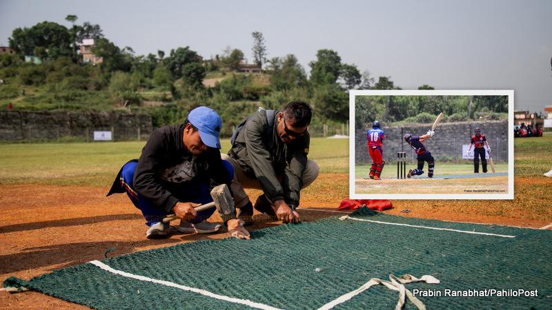 एक दिवसीय प्रधानमन्त्री क्रिकेट कपको यो हबिगत : मुलमानी मैदानमा म्याट ओछ्याएर खेलाइँदै, २० फोटोमा हेर्नुस्