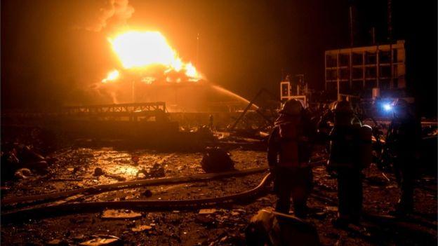 चीनको औद्योगिक क्षेत्रमा विस्फोट, मृत्यु हुनेको संख्या ४७ पुग्यो