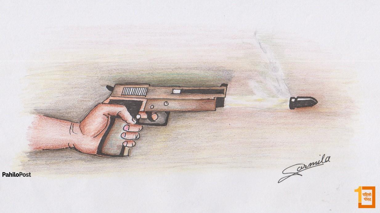 विप्लवको कार्याकर्तामाथि प्रहरीले चलायो गोली, एक घाइते