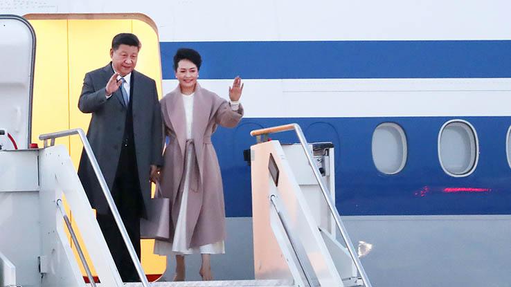 सैन्य विमानको स्कर्टिङसहित रोम पुग्यो चिनियाँ राष्ट्रपति सी सवार विमान