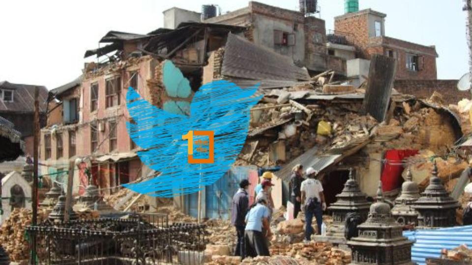 पहिलोपोस्टका ४२ ट्विटमा वैशाख १२ को त्यो भूकम्प