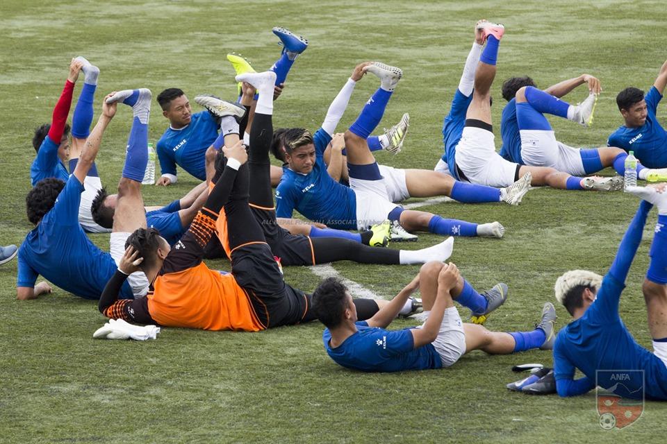 फिफा विश्वकपको दोस्रो चरण छनोट खेल्न तयारी गर्दै नेपाली टोली, हेर्नुस् फोटोमा