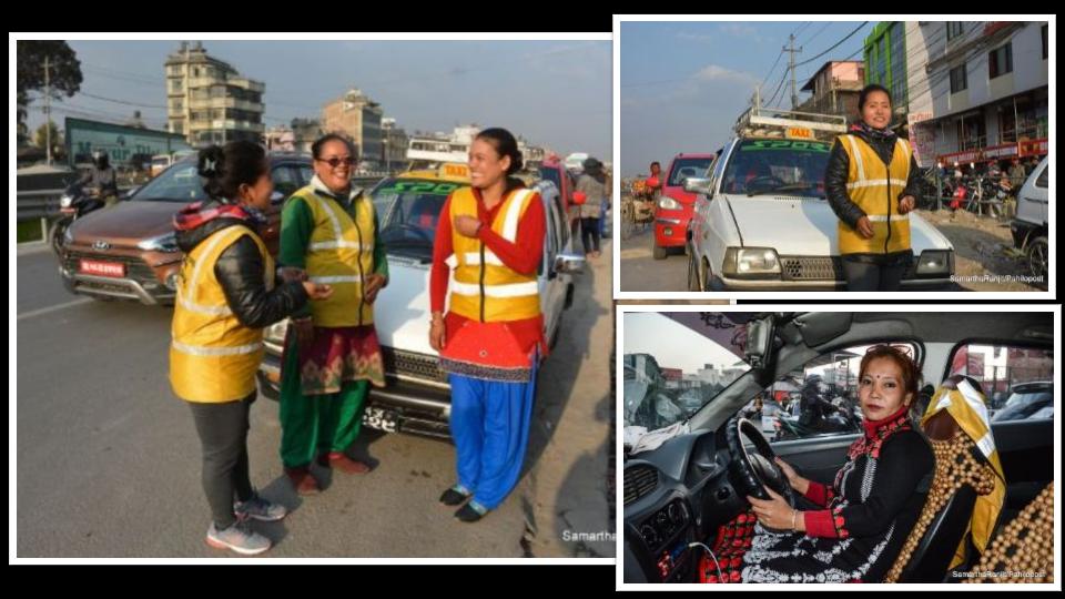 काठमाडौंका सडकमा लिडिङ लेडी : ट्याक्सीको स्टेरिङमा महिलाको नियन्त्रण